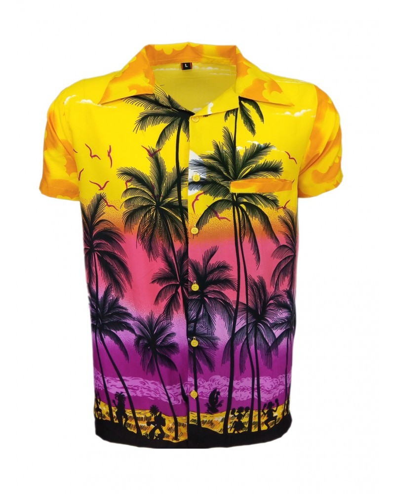 Yellow Palm Hawaaiian Shirt