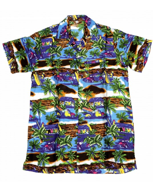 Purple Rayon Hawaiian Shirt
