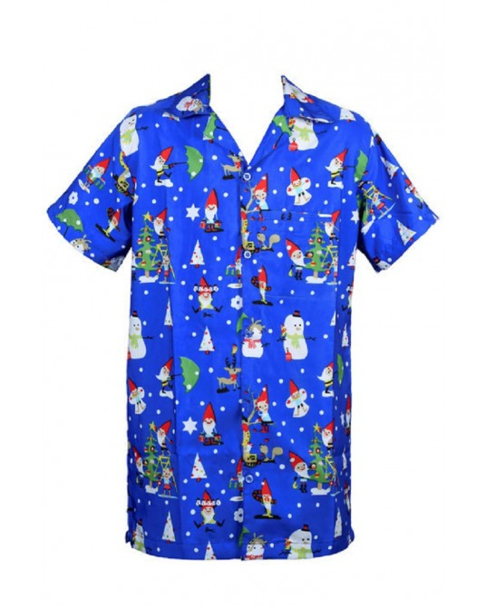 Blue Clone Santa Hawaiian Shirt