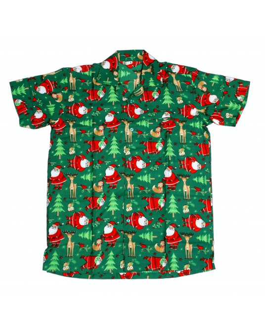 Green Rudolf Hawaiian Shirt