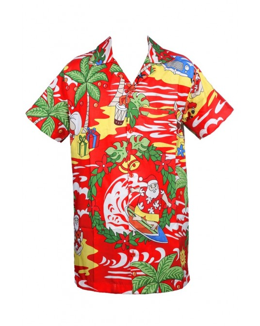 Red Drum santa Hawaiian Shirt