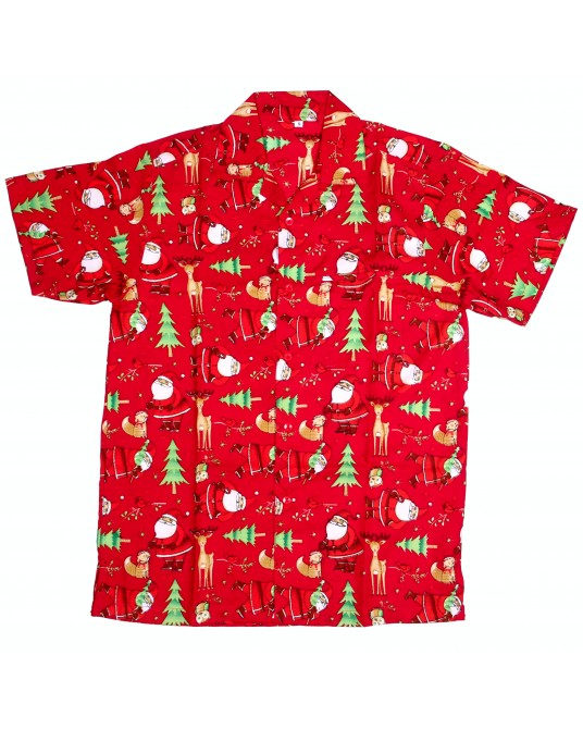 Red Rudolf Hawaiian Shirt