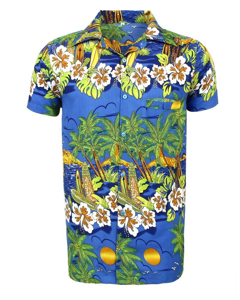 Blue Sun Hawaiian Shirt