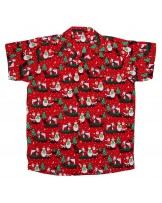 Red Snowman Santa Hawaiian Shirt