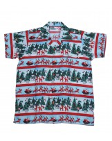 Santa Cart Hawaiian Shirt