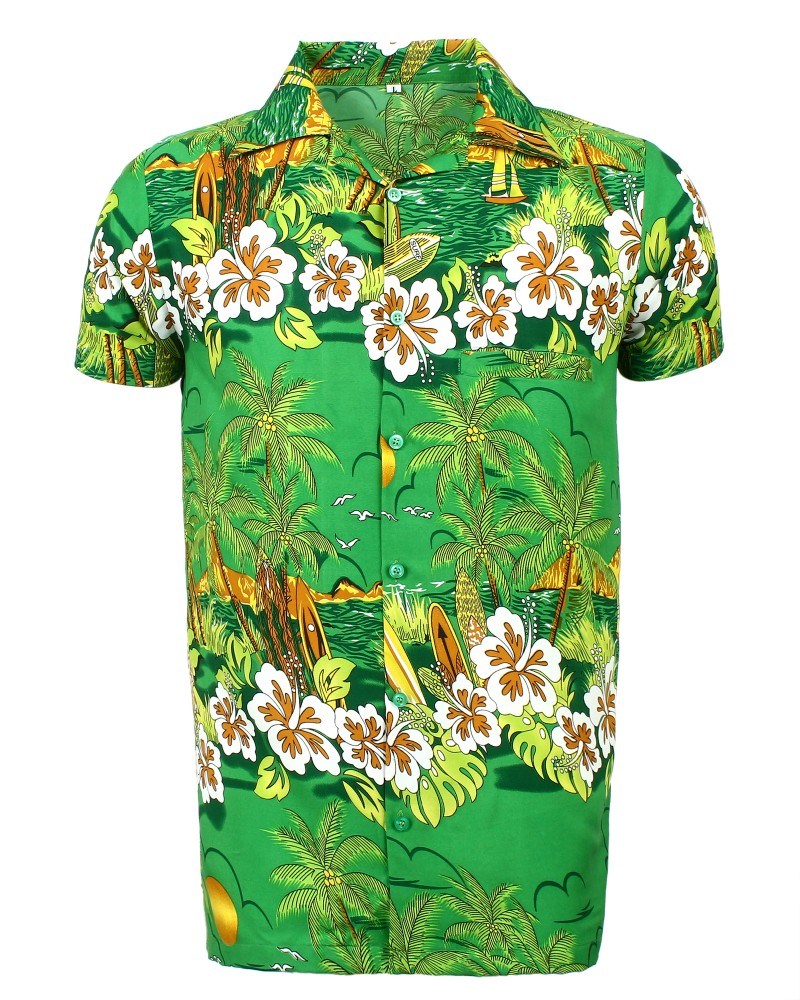 Green Sun Hawaiian Shirt