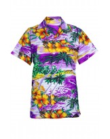 Purple Cliff Hawaiian Shirt