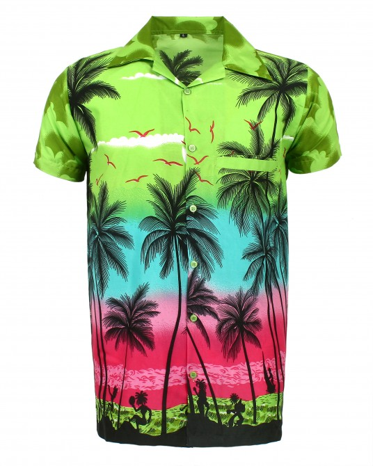 Green Palm Hawaaiian Shirt