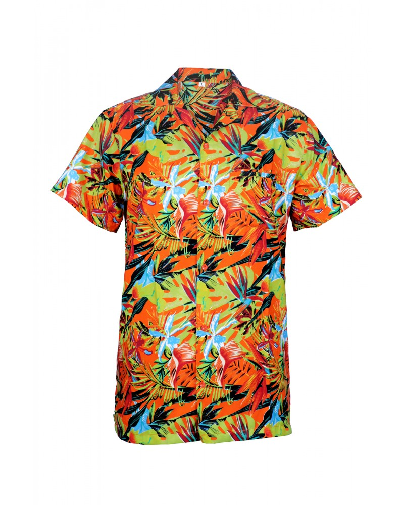 Orange (Bunch Of Flowers) BOF Hawaiian Shirt