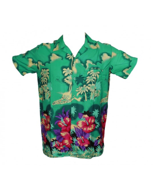 Green New Palm Hawaiian shirt