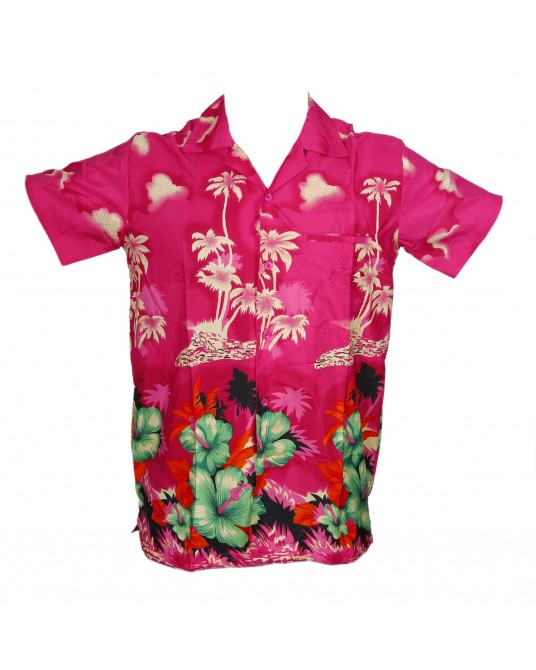 Pink New Palm Hawaiian shirt