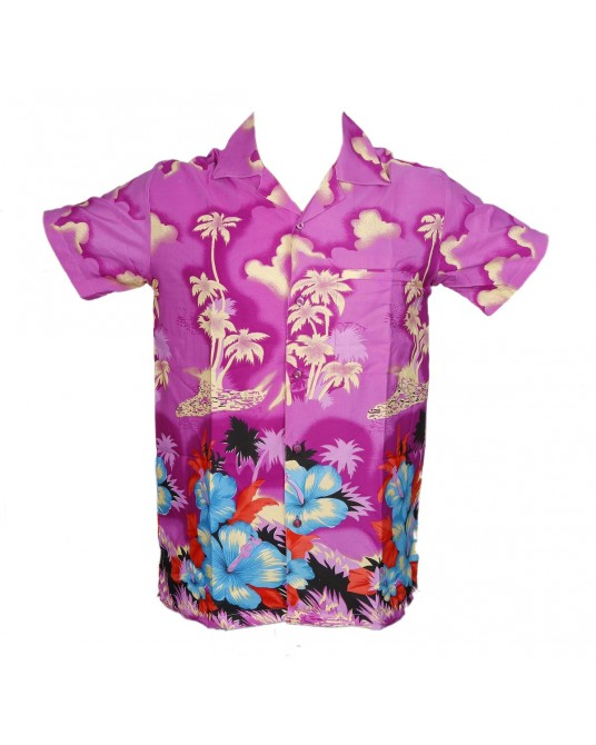 Purple New Palm Hawaiian shirt