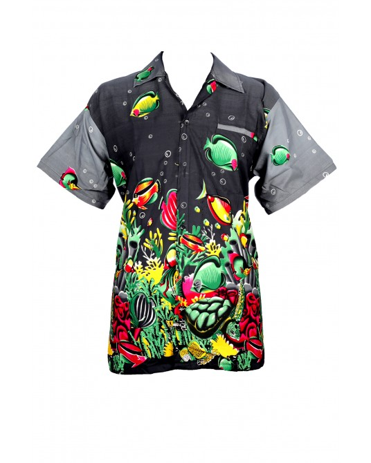 Black Fish Hawaiian Shirt
