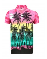 Pink Palm Hawaaiian Shirt