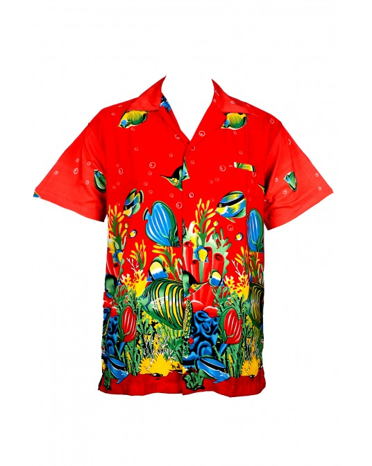 Red Fish Hawaiian Shirt