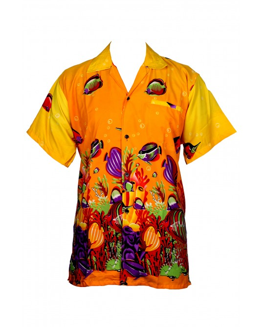 Yellow Fish Hawaiian Shirt