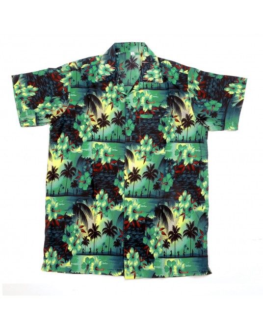 Dark Green Paradise Hawaiian Shirt