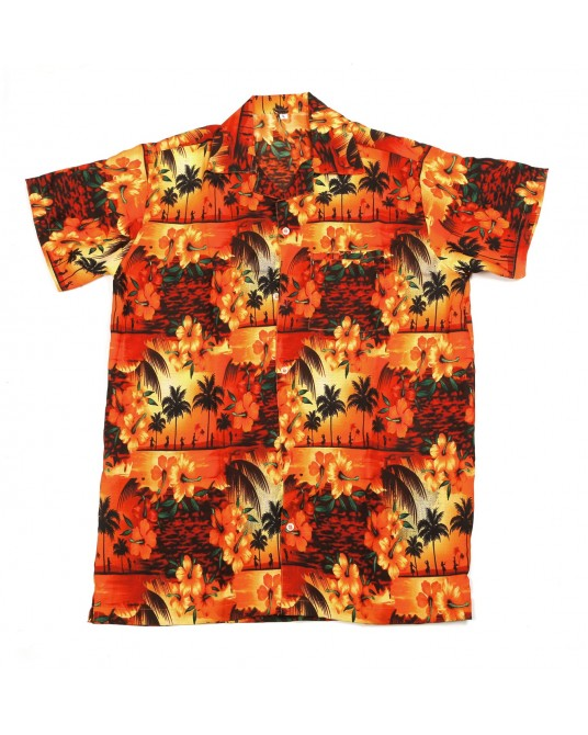 Orange Paradise Hawaiian Shirt