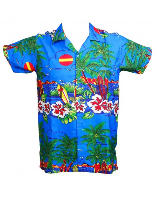 New Blue Sun Hawaiian Shirt