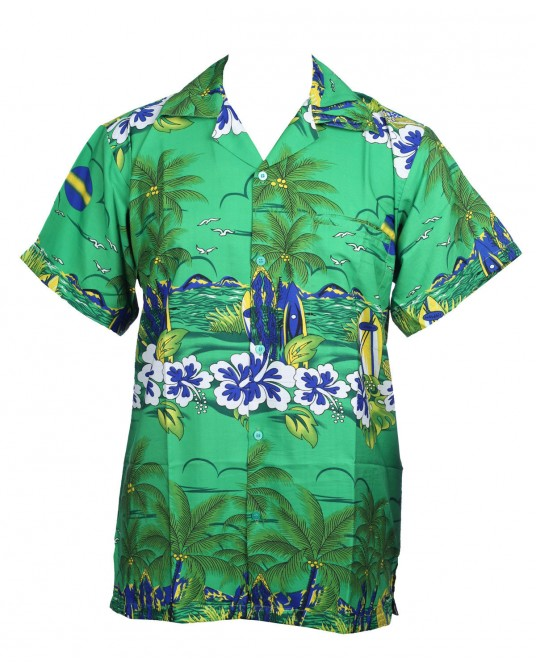 New Green Sun Hawaiian Shirt