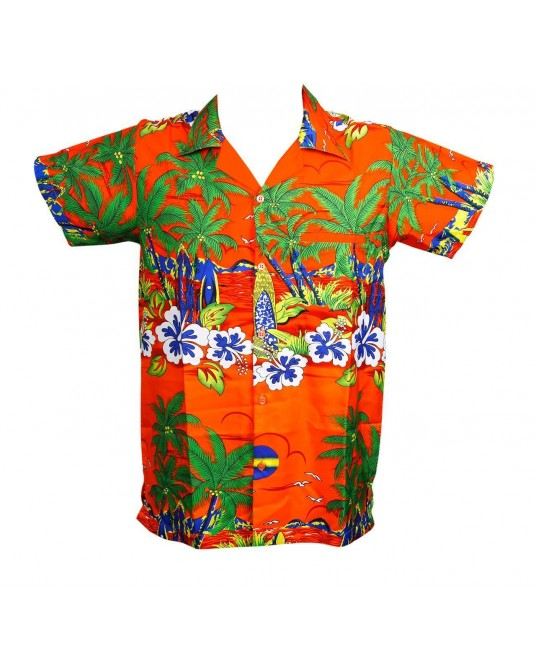New Orange Sun Hawaiian Shirt