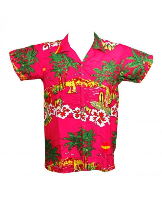 New Pink Sun Hawaiian Shirt