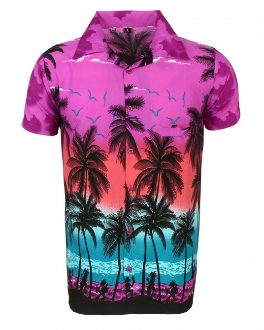 Purple Palm Hawaaiian Shirt
